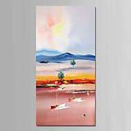 billiga Landskapsmålningar-Hang målad oljemålning HANDMÅLAD - Landskap Samtida Enkel Moderna Duk