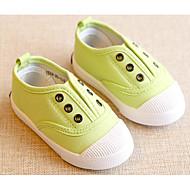 baratos Sapatos de Menina-Para Meninas Sapatos Lona Primavera / Outono Conforto / Primeiros Passos Tênis para Amarelo / Vermelho / Verde Claro