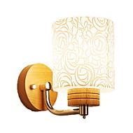 billige Vegglamper-Øyebeskyttelse Vegglamper Soverom Tre / Bambus Vegglampe 220V 9W