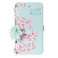 billiga Mobil cases & Skärmskydd-fodral Till Huawei P8 Lite (2017) P10 Lite Korthållare med stativ Lucka Mönster GDS (Gör det själv) Blomma Hårt för