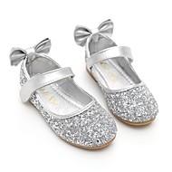 baratos Sapatos de Menina-Para Meninas Sapatos Paetês Primavera / Outono Bailarina / Sapatos para Daminhas de Honra Rasos Laço / Lantejoulas / Velcro para Dourado