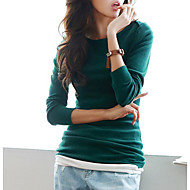 Majica s rukavima Žene Jednobojni Pamuk