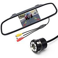 billiga Parkeringskamera för bil-ziqiao 5 tums digital tft lcd spegelmonitor och 8led ccd hd bil bakifrån kamera