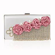 billige Designer Evening Bags-Dame Poser polyester / PU Aftenveske Krystalldetaljer Lilla / Fuksia / Vin