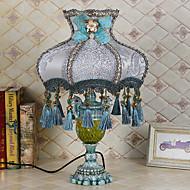 billige Lamper-Kunstnerisk Moderne / Nutidig Lace Printing Bordlampe Til Stue Glass 220V Blå