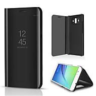 billiga Mobil cases & Skärmskydd-fodral Till Huawei Mate 10 med stativ Plätering Spegel Lucka Auto Sömn/Uppvakning Fodral Ensfärgat Hårt PU läder för Mate 10