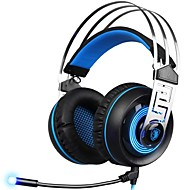 billiga Headsets och hörlurar-SADES A7-3 Headband Kabel Hörlurar Dynamisk Plast Spel Hörlur mikrofon headset