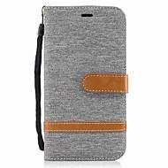 billiga Mobil cases & Skärmskydd-fodral Till Motorola G5 Plus G4 Plus Korthållare Plånbok Stötsäker med stativ Lucka Fodral Ensfärgat Hårt Textil för Moto G5 Plus Moto G5