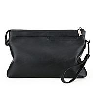 Muškarci Torbe PU Clutch torbica Patent-zatvarač Crn / Braon