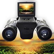 baratos -12 X 32 mm Binóculos Alta Definição Apresentação LCD Video Acampar e Caminhar Caça Alpinismo Borracha Silicone
