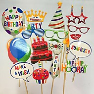 20 fødselsdagskage foto rekvisitter gratulerer med fødselsdagen ballon kage lyset fotografering