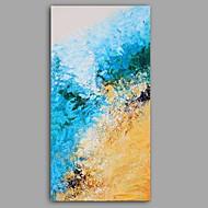 billiga Blom-/växtmålningar-Hang målad oljemålning HANDMÅLAD - Abstrakt Blommig / Botanisk Klassisk Moderna Duk