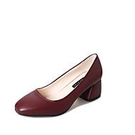 baratos Sapatos Femininos-Mulheres Sapatos Couro Ecológico Primavera / Verão Conforto Sandálias Sem Salto Dedo Aberto Miçangas / Tacheado Preto / Vermelho / Azul