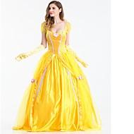 Prinsesse Skak Belle Cosplay Kostumer Maskerade Alle Halloween Festival / Højtider Halloween Kostumer Udklædning Gul Ensfarvet