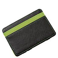 baratos Super Ofertas-Homens Bolsas PU Carteiras Em Camadas Verde / Laranja
