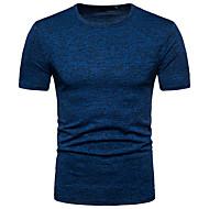 Χαμηλού Κόστους -Ανδρικά T-shirt Κομψό στυλ street Στρογγυλή Λαιμόκοψη