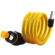 billige Tastelåser-sykkellås terrengsykkellås elektrisk billås ståltrådslåsekabel 12 * 1100mm tilfeldig farge på låshode