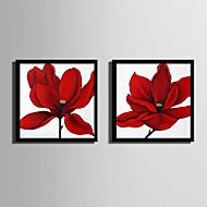 billige Innrammet kunst-Blomstret/Botanisk Tegning Veggkunst,Plastikk Materiale med ramme For Hjem Dekor Rammekunst Stue Innendørs