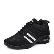 baratos Sapatilhas de Dança-Mulheres Tênis de Dança Tricô Têni Salto Baixo Personalizável Sapatos de Dança Preto / Vermelho / Preto / Branco / Profissional