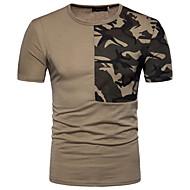 Rund hals Herre - Ensfarvet Bomuld T-shirt