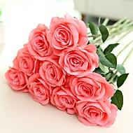 billige Kunstig Blomst-Kunstige blomster 2 Afdeling pastorale stil / Europæisk Stil Roser Bordblomst