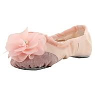 billige Ballettsko-Ballettsko Lerret Flate Blomst Flat hæl Kan spesialtilpasses Dansesko Svart / Beige / Rosa / Trening
