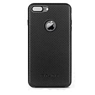 billiga Mobil cases & Skärmskydd-fodral Till Apple iPhone 7 / iPhone 7 Plus Stötsäker Skal Ensfärgat Hårt Äkta Läder för iPhone 7 Plus