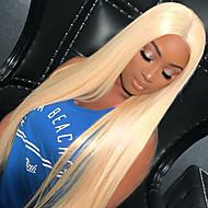 Remy Τρίχα Δαντέλα Μπροστά Χωρίς Κόλλα Δαντέλα Μπροστά Περούκα Kardashian στυλ Βραζιλιάνικη Ίσιο Περούκα 150% Πυκνότητα μαλλιών με τα μαλλιά μωρών Φυσική γραμμή των μαλλιών 100% παρθένα Γυναικεία