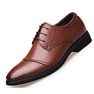 baratos Sapatos Masculinos-Homens Couro Sintético Primavera / Outono Conforto Oxfords Preto / Marron