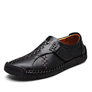 お買い得  メンズブーツ-男性用 靴 エナメル 冬 コンバットブーツ ブーツ ミドルブーツ ブラック / イエローとブラウン / 赤 + ブラウン