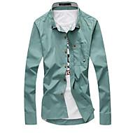 muška poliesterska košulja - čvrsti ovratnik košulje
