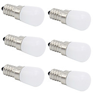 billige Globepærer med LED-6pcs 2W 280-320lm E14 E12 T 1 LED perler COB Dekorativ Varm hvit Kjølig hvit 220-240V