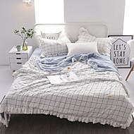cheap Home Textiles-Comfortable Poly / Cotton Blend Poly / Cotton Blend Reactive Print 300 Tc Plaid/Checkered