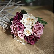 cheap Artificial Flowers-9 Branch Silk Roses Tabletop Flower Artificial Flowers