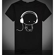 Ανδρικά T-shirt Βασικό Κινούμενα σχέδια Στρογγυλή Λαιμόκοψη Στάμπα Λευκό XL / Κοντομάνικο / Καλοκαίρι