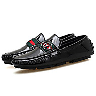 cheap Men's Leather Shoes-Men's Shoes Cowhide Spring / Fall Driving Shoes Loafers & Slip-Ons Black / Dark Blue / Silver