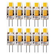 olcso Bajonettzáras LED lámpák-SENCART 10pcs 2 W 240-280 lm G4 LED betűzős izzók T 1 led COB Dekoratív Meleg fehér Hideg fehér 12V