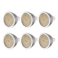 billiga Belysning-YWXLIGHT® 6pcs 7W 600-700lm MR16 GU5.3 LED-spotlights 48 LED-pärlor SMD 2835 Varmvit Kallvit Naturlig vit 12V