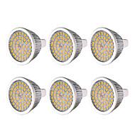 billige Spotlys med LED-ywxlight® 6pcs mr16 7w 48led lyspære varm hvit kul hvit naturlig hvit 2835smd led spotlight pære lampe for hjemme belysning dc 12 v