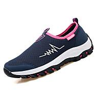 preiswerte -Damen Schuhe Atmungsaktive Mesh Frühling / Herbst Komfort Sportschuhe Walking Flacher Absatz Runde Zehe Dunkelblau / Grau / Rot
