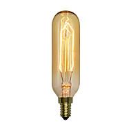 Χαμηλού Κόστους Τέλειοι λαμπτήρες φωτισμού-1pc 40 W E14 T10 2300 κ Λαμπτήρας πυρακτώσεως Vintage Edison 220V-240V V
