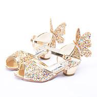 baratos Sapatos de Menina-Para Meninas Sapatos Glitter Primavera / Verão Inovador / Sapatos para Daminhas de Honra Sandálias Laço / Lantejoulas / Presilha para