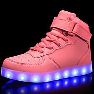 tanie Obuwie dziewczęce-Dla chłopców / Dla dziewczynek Obuwie Derma Wiosna Wygoda / Świecące buty Adidasy Spacery Sznurowane / Haczyk i pętelka / LED na Czerwony / Niebieski / Różowy