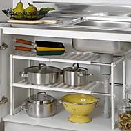 billiga Köksförvaring-Kök Organisation Skåp Tillbehör Plast Förvaring 1set