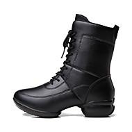 billiga Dansskor-Dam Dansskor Läder Sneaker Tvinning Platt klack Går att specialbeställas Dansskor Svart