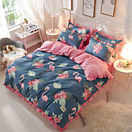 cheap Contemporary Duvet Covers-Duvet Cover Sets Floral Contemporary 4 Piece Polyster Reactive Print Polyster 1pc Duvet Cover 2pcs Shams 1pc Flat Sheet