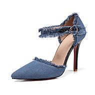 abordables Talons pour Femme-Femme Chaussures Toile de jean Printemps / Eté D'Orsay & Deux Pièces / Escarpin Basique Chaussures à Talons Talon Aiguille Bout pointu