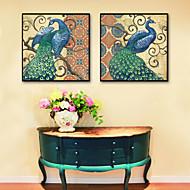 billige Innrammet kunst-Dyr Blomstret/Botanisk Tegning Veggkunst, Plastikk Materiale med ramme For Hjem Dekor Rammekunst Stue