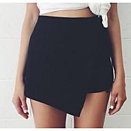 女性用 ベーシック プラスサイズ ショーツ パンツ - プリント, ソリッド