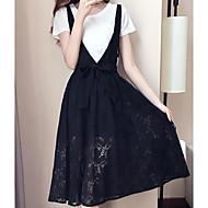Žene Veći konfekcijski brojevi Puff rukav  Osnovni Bluza - Jednobojni, Print Suknja
